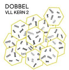 #ebbo #spelendleren #lezen #aanvankelijklezen  #dobbel #vll #kern2 Study Skills, Spelling, Teaching, School, Iris, Reading, Learning, Irise, Irises