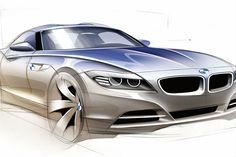 BMW Z4 Design Sketch - Car Body Design
