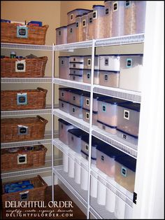 Crazy organization in this Food Storage Pantry!