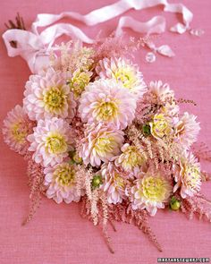 The Prettiest Pink Wedding Bouquets Dahlias look downright decadent when paired with feathery astilbe. The Prettiest Pink Wedding Bouquets Dahlias look downright decadent when paired with feathery astilbe. Astilbe Bouquet, Dahlia Bouquet, Flower Bouquet Wedding, Floral Wedding, Wedding Colors, Cascade Bouquet, Wedding Ideas, Lush, Bride Bouquets