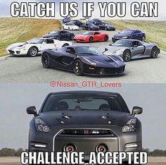 don't doubt a Gtr Car Guy Memes, Car Jokes, Funny Car Memes, Car Humor, Nissan Gtr Nismo, Nissan Gtr Skyline, Initial D Car, Car Facts, Mechanic Humor