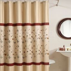European Classical Thick Waterproof Polyester Shower Curtain Mildew Shower Curtains Partition Curtain Including Hooks