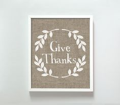 Gus + Lula 8x10 Give Thanks print. $18.00, via Etsy.