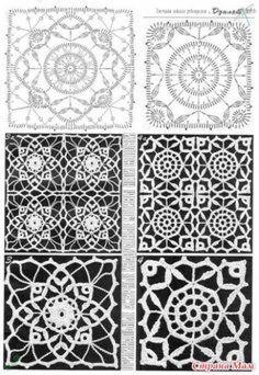 Transcendent Crochet a Solid Granny Square Ideas. Inconceivable Crochet a Solid Granny Square Ideas. Crochet Bedspread, Crochet Tablecloth, Crochet Doilies, Crochet Flowers, Crochet Lace, Vintage Crochet, Crochet Motif Patterns, Crochet Blocks, Granny Square Crochet Pattern