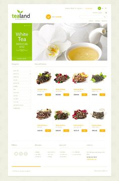 Food & Drink inspirations at the Coffee Break? Browse for more Food & Drink and PrestaShop templates! // Regular price: $140 // Unique price: $2500 // Sources available: .PSD, .PHP, .TPL // #FoodDrink #PrestaShop #templates #tea