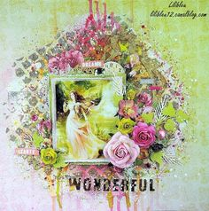 Layout by More Than Words DT member Lilibleu inspired by the February WONDERFUL & SPARKLE Main Challenge. More details at http://morethanwordschallenge.blogspot.ca/2016/02/february-2016-main-challenge-wonderful.html #morethanwords #mtwchallenge #morethanwordschallenges #mtw
