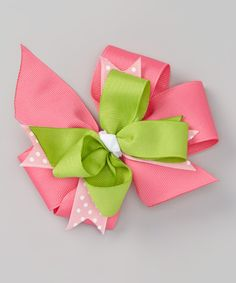 Look at this Pink Watermelon Bow Hair Clip on #zulily today!