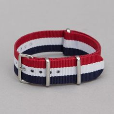 Fancy - Red White & Blue Nato Watch Strap