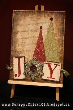 Scrappy Chick Designs: Christmas Altered Canvas~ Advent with Candles: one for each week? Faith Hope Joy ?