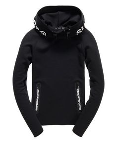 66407fd3d29f Shop Superdry Womens Gym Tech Cowl Hoodie in Black. Buy now with free  delivery from the Official Superdry Store.
