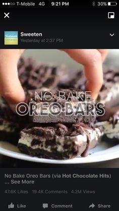No bake Oreo bars