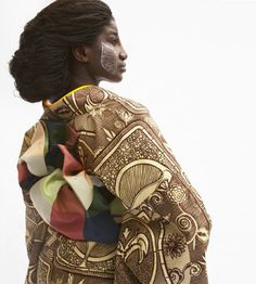 """African Kimono by Serge Mouangue Cameroonian-born, Tokyo-based designer - """"a third aesthetic"""" We Are The World, People Of The World, Black Is Beautiful, Beautiful People, Beautiful Mind, Art Afro, Traditional Japanese Kimono, African Fashion Traditional, Japanese Geisha"""