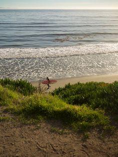 Isla Vista Beach, near the campus of UCSB.