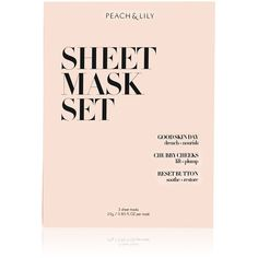 PEACH & LILY Women's Sheet Mask Set (4.355 HUF) ❤ liked on Polyvore featuring beauty products, skincare, face care, no color, paraben free skin care, hydrating mask and moisturizing mask
