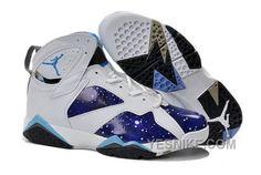 e7f08d208464d3 Buy New Men Jordan 7 Galaxy Customs White Legend Blue Xmas Deals 2016 from  Reliable New Men Jordan 7 Galaxy Customs White Legend Blue Xmas Deals 2016  ...