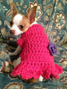 Handmade Crocheted Dog Sweater Size XS by JennyStakerInspired, $20.00