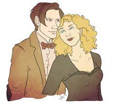 River and the Doctor by emmilinne.deviantart.com on @deviantART