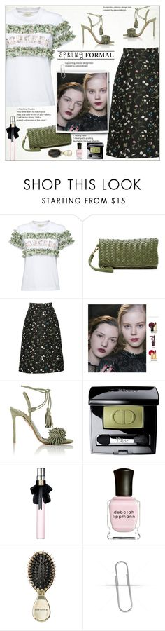 """""""SPRING Formal"""" by alves-nogueira ❤ liked on Polyvore featuring Urban Expressions, Aquazzura, Christian Dior, Yves Saint Laurent, Deborah Lippmann and Sephora Collection"""