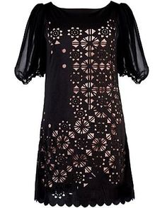 Laser Cut Night Dress via Rickety Rack, lovely! My kind of going out dress!