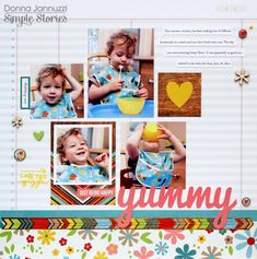 Layout: yummy {Simple Stories}