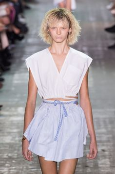 Blondes Rule Everything Around Us at Alexander Wang Spring 2017