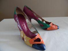 Vintage fine anni 1980 primi 1990s scarpe firmate di LetasVintage