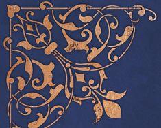 Arabesque coin pochoir pour la décoration par royaldesignstencils