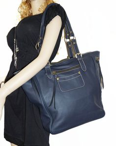 Genuine Leather tote bag leather handbag leather by ChicLeather