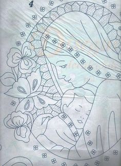 Gallery.ru / Фото #105 - disegni ricamo - antonellag Crewel Embroidery, Hand Embroidery Patterns, Hand Work Blouse Design, Pencil Design, Parchment Craft, Christmas Coloring Pages, Pencil Art Drawings, Cutwork, Fabric Painting
