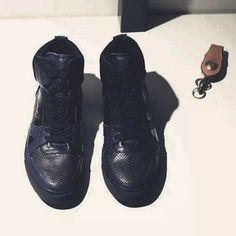 B. PRORSUM Colour Scheme Mixed Leather .ct Sneakers