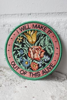 "We worked with Allison Weiss to design a series of 3 patches based on the lyrics from her new album New Love. This patch is inspired by the song ""Out Of This Al"