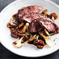 Bon Appetit - Hanger Steak with mushrooms and red wine sauce
