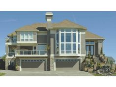 images about House Plans on Pinterest   House plans  Square    Eplans House Plan  This stunning facade is ready for an ocean view or a beautiful suburb  Two story windows   transoms allow natural light to fill the