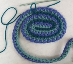 0.Double sided crochet ribbon