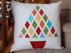 Christmas Pillow. I Just love this for its simplicity and fresh colours for us that have Xmas in 34 degrees!