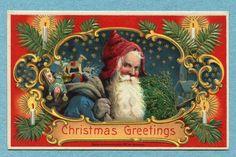 """Christmas Greetings"" Santa"