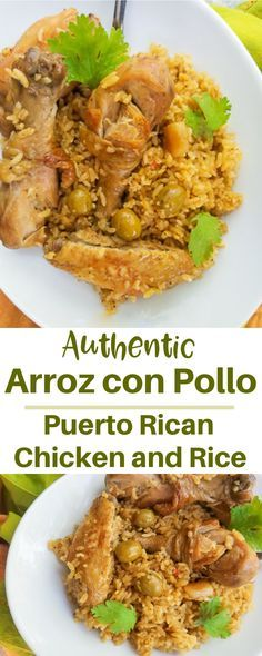 Puerto Rican Chicken Stew, Puerto Rican Dishes, Puerto Rican Recipes, Mexican Food Recipes, Dinner Recipes, Ethnic Recipes, Puerto Rican Arroz Con Pollo Recipe, Puerto Rican Beans, Dominican Recipes