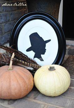 Pilgrim Boy Cardstock Silhouette Set from dear Lillie
