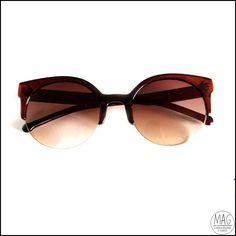Óculos de sol cat eye caramelo, ostentação!