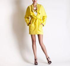 Christine Phung SS2013 Ara Yellow Coat #ModeWalk #luxury #fashion #ChristinePhung #coat #yellow