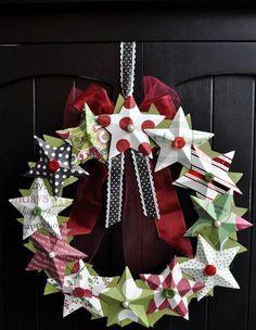 Centro de mesa para navidad navidad y mesas - Decorar estrella navidad ...