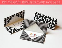 credit: Jessica Jones [http://howaboutorange.blogspot.com/2012/08/how-to-make-origami-business-card-holder.html]
