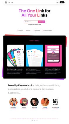 Bio Link: | Land-book - the finest hand-picked website inspirations Twitter Bio, One Page Website, Landing Page Design, First Page, Inspire Others, Cool Websites, How To Introduce Yourself, It Works
