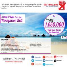 Honeymoon Di Bali Mulai Dari Rp 1.650.000/Couple , Yuk Pesan !! #bali   #honeymoon   #promo   #tour   #beach