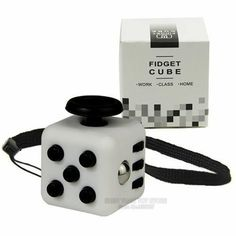 Mini Fidget Cube 11 Colours Desk Finger Toy Keychain Squeeze Fun Stress Reliever Puzzle Magic Cube With Box