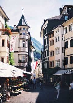 Bolzano, Italy. Girls weekend. Bought a bunny cage at the market. Bunny chewed throught it, wicker was a mistake.