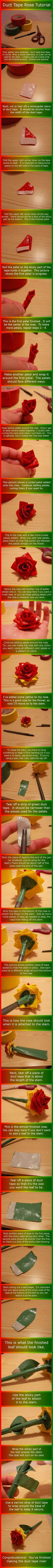 duct tape rose tutorial from annelicyambl.deviantart.com:
