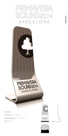 Idea original seleccionada para el trofeo del Primavera Sound. Aluminio.