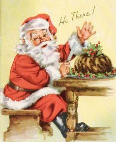 Vintage Christmas Card Father Christmas, Santa Christmas, Christmas Wishes, Christmas Pictures, Christmas Greetings, Christmas Decor, Vintage Christmas Cards, Retro Christmas, Christmas Greeting Cards