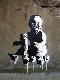 Street Art (Banksy) Blocks